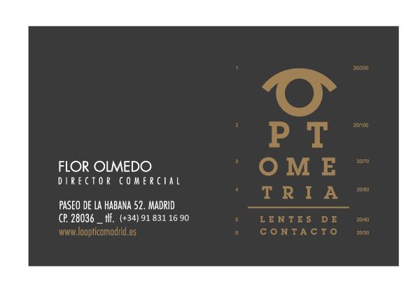 LLA ÓPTICA Madrid CONTACTO - Flor Olmedo