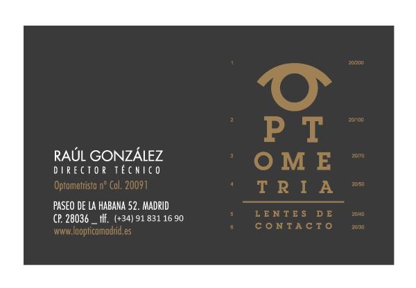 LA ÓPTICA Madrid CONTACTO - Raul Gonzalez